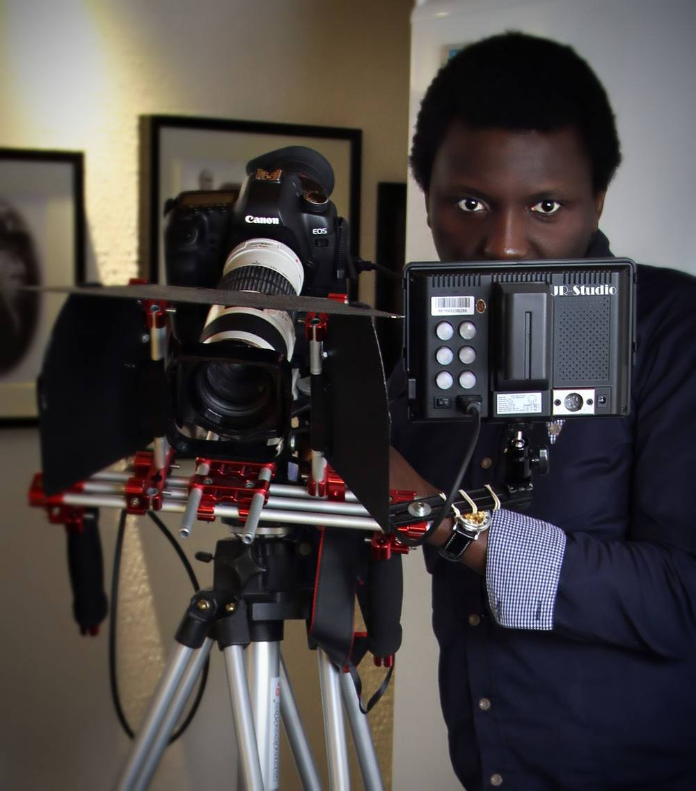 Babatunde and the movie camera